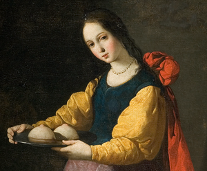 Festival of Saint Agatha (Catania) - Saint Agatha - painting by Francisco de Zurbarán