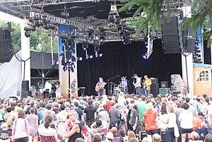 Hillside Festival - Sarah Harmer performing at the Hillside Festival mainstage in 2010