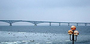 Saratov - Saratov Bridge across the Volga, formerly the longest bridge in the Soviet Union