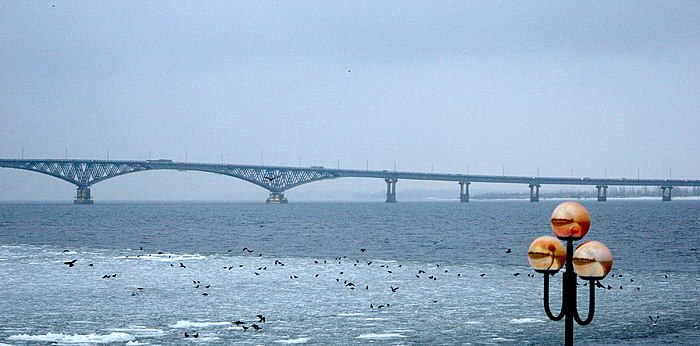 The Saratov Bridge, Saratov Oblast Saratov-avto-most.jpg