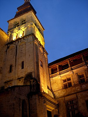 Sarlat Cathedral by night