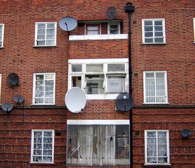Satellite dishes in the UK