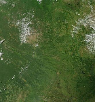 Geography of Paraguay - Satellite image of Paraguay in January 2003