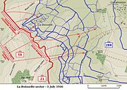 Sausage Valley Somme 1 July 1916 map