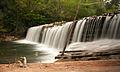 Savinja waterfall in Raduha, Slovenia (14096835785).jpg