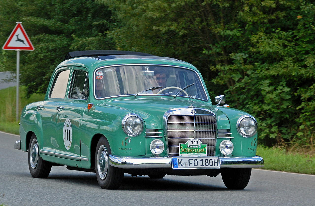 File saxony classic rallye 2010 mercedes benz 180 b 1957 for Rallye mercedes benz