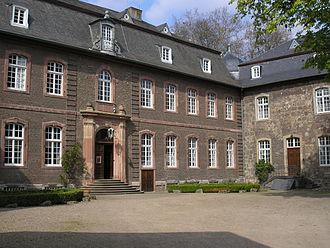 Porz - Courtyard of mid-18th-century Schloss Wahn