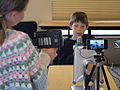 School children making broadcast.jpg