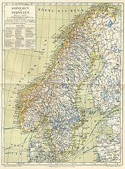 Schweden und Norwegen um 1888