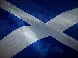 English: Flag of Scotland Gàidhlig: Bratach na...