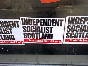 Scottish Socialist Party - Fly poster for the Scottish Socialist Party