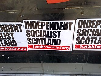 Scottish independence - Fly poster from the Scottish Socialist Party