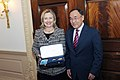 Secretary Clinton Accepts the Dostyk from Kazakhstan Foreign Minister Saudabayev (5388522395).jpg