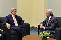 Secretary Kerry Meets With Armenian President Sargsyan at the 2016 Nuclear Security Summit in Washington (25571079524).jpg
