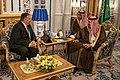Secretary Pompeo Meets with Saudi King Salman in Jeddah (48119323373).jpg
