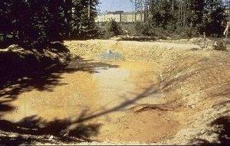 Water-sensitive urban design - Sediment basin installed on a construction site.