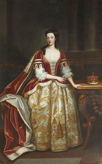 Elizabeth Hervey, Countess of Bristol - Portrait of Elizabeth Felton, Countess of Bristol, painted by Enoch Seeman in 1738.