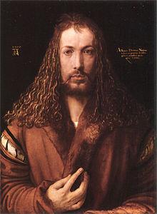 Selbstbildnis (Münchner Selbstbildnis), Öl auf Leinwand (1500), Alte Pinakothek, München. (Quelle: Wikimedia)