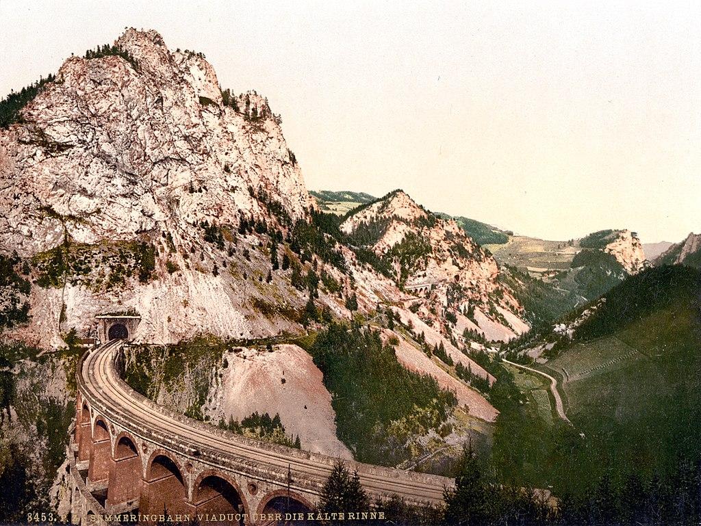 Viaducto de Kalte Rinne en 1900