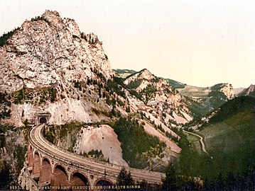 Semmering railway viaduct, around 1900
