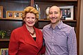 Senator Stabenow meets with Aaron Hamburger, a writer from Michigan (32062551534).jpg