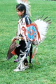 Seneca girl in traditional dress, 2005 Pow Wau in Salamanca, New York.