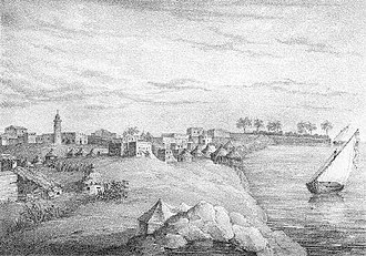 Turkish Sudan - Sennar, the former capital of the Funj Sultanate, in the 1830s.