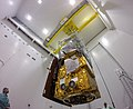 Sentinel-2A satellite - Lowered onto launch adapter.jpg