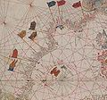 Senyeres a l'atlas de Benincasa (1473).jpg