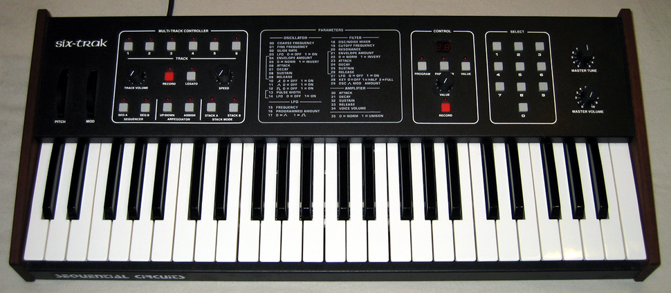 Sequential Circuits Six-Trak front