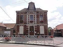 Serain (Aisne) mairie et école.JPG