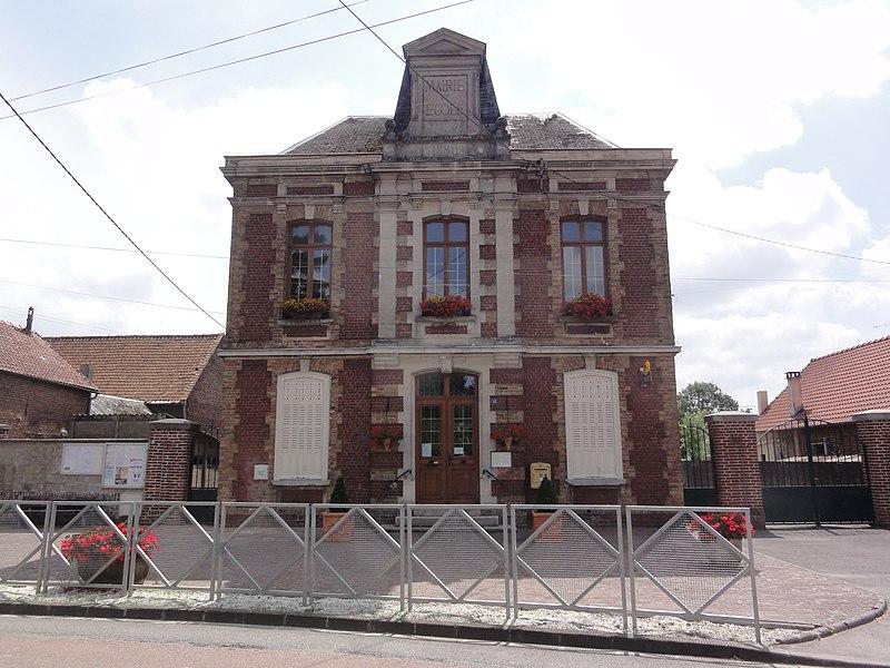Serain (Aisne) mairie et école