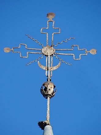 Kryždirbystė - Sereikiai krzyż kościoła