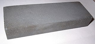 Abrasive slab used to sharpen tools
