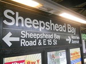Sheepshead Bay (BMT Brighton Line) - Station signage