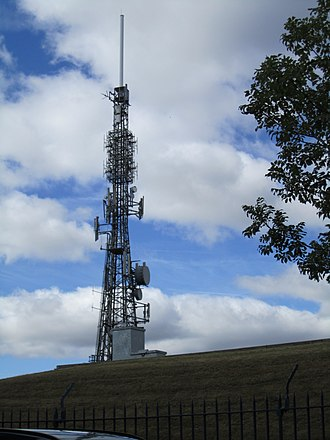 Tapton Hill transmitting station - Image: Sheffield Transmitter, viewed from the north, Aug 2011,