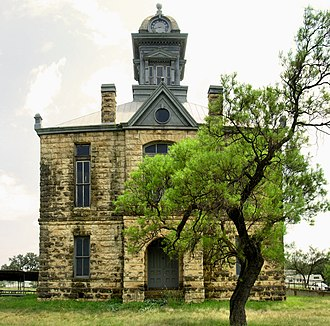 Sherwood, Texas - The 1901 Irion County Courthouse in Sherwood
