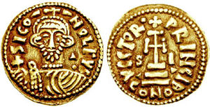 Siconulf of Salerno - Siconulf's effigy on a solidus minted during his rule in Salerno