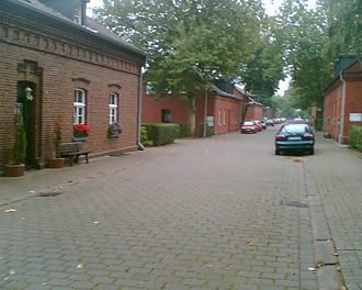 Company town - The town of Siedlung Eisenheim in Oberhausen, Germany