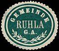 Siegelmarke Gemeinde Ruhla G.A. W0262770.jpg