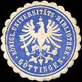 Siegelmarke Königl. Universitäts-Bibliothek Göttingen W0310703.jpg