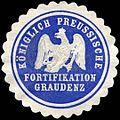 Siegelmarke Königlich Preussische Fortifikation Graudenz W0223823.jpg