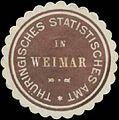 Siegelmarke Thüringisches Statistisches Amt in Weimar W0390595.jpg