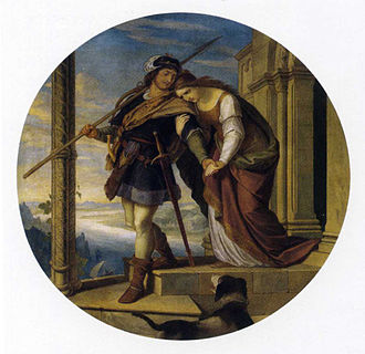 Sigurd - Siegfried's Departure from Kriemhild, by Julius Schnorr von Carolsfeld, ca. 1843