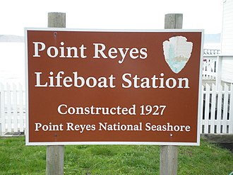 Point Reyes Lifeboat Station - Image: Sign Lifeboat