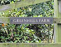 Sign at the entrance to Greenhills Farm - geograph.org.uk - 227027.jpg