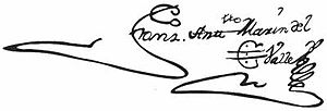 Francisco Antonio Marín del Valle - Image: Signature 5