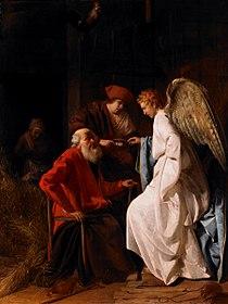Simon Hendricksz. van Amersfoort - Tobias and the Angel curing Tobit of blindness, 1630 (Birmingham Museum of Art).jpg
