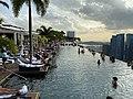 Singapore - Marina Bay Sands Hotel Infinity Pool IMG 4678.jpg