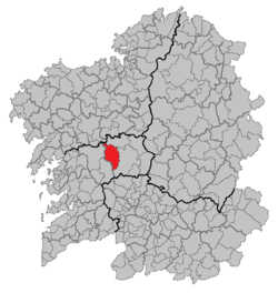 position of Silleda within Galicia